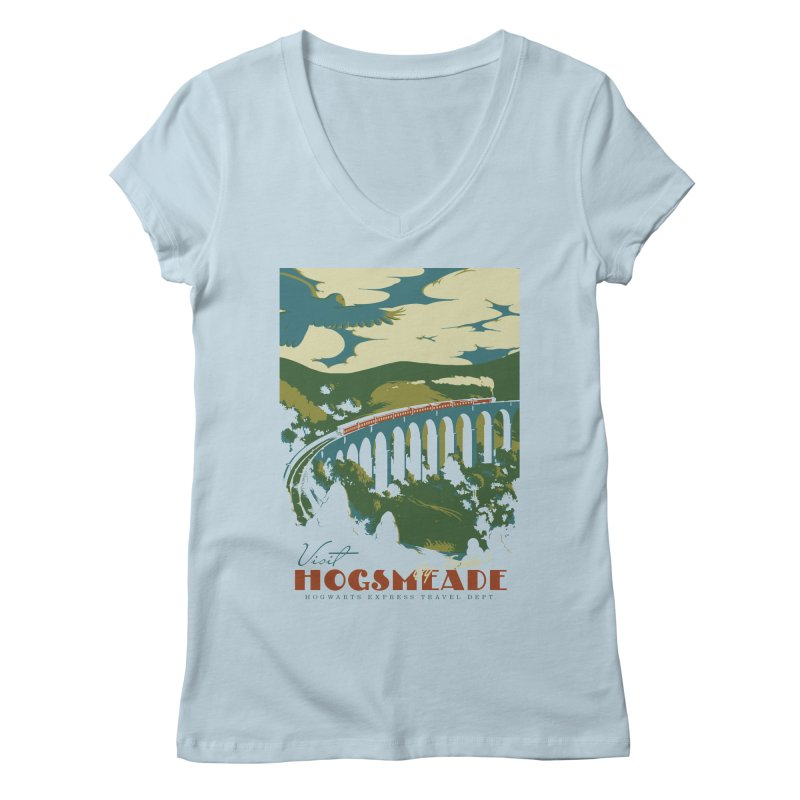Visit Hogsmeade Women's Regular V-Neck by mathiole