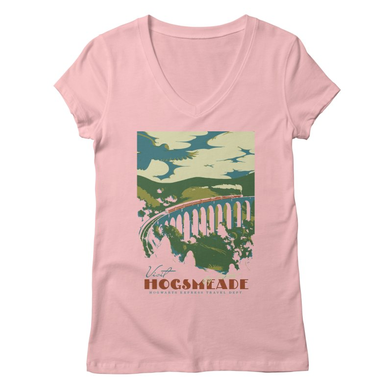 Visit Hogsmeade Women's Regular V-Neck by mathiole