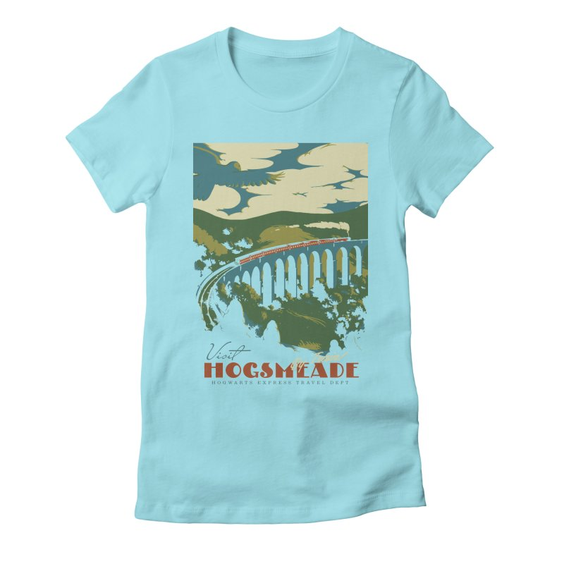 Visit Hogsmeade Women's Fitted T-Shirt by mathiole