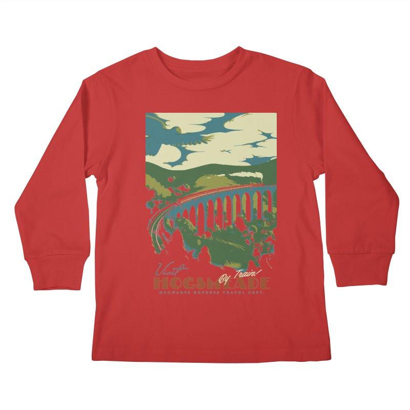 Visit Hogsmeade Kids Longsleeve T-Shirt by mathiole