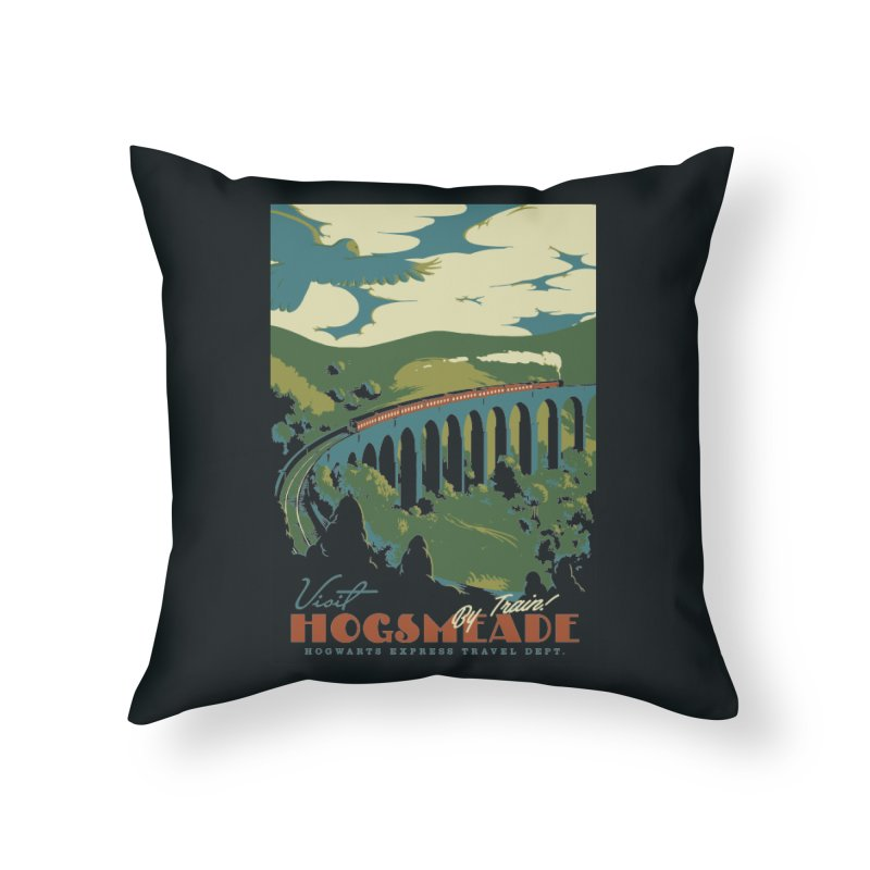 Visit Hogsmeade Home Throw Pillow by mathiole
