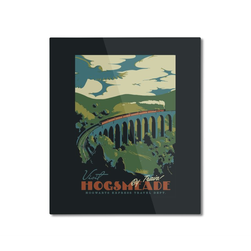 Visit Hogsmeade Home Mounted Aluminum Print by mathiole