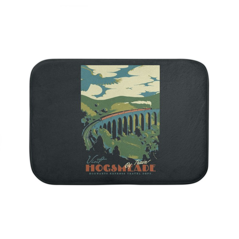 Visit Hogsmeade Home Bath Mat by mathiole