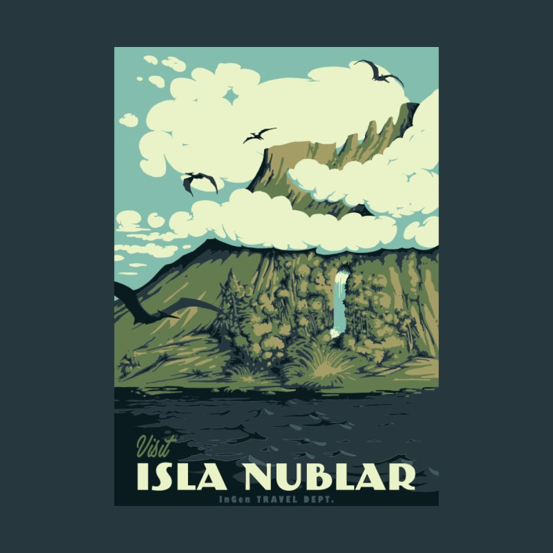 Visit Isla Nublar Women's V-Neck by mathiole