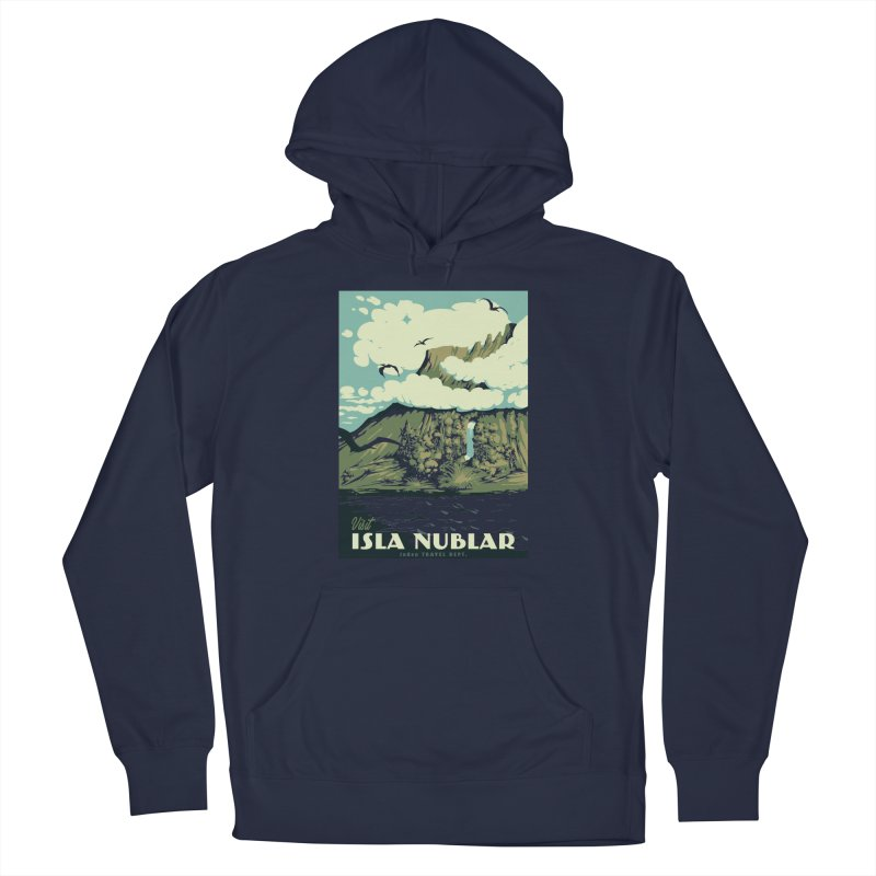 Visit Isla Nublar Women's French Terry Pullover Hoody by mathiole