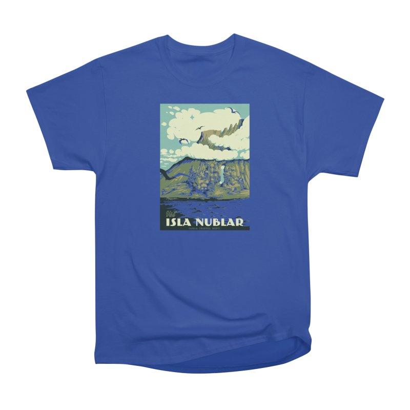 Visit Isla Nublar Men's Heavyweight T-Shirt by mathiole