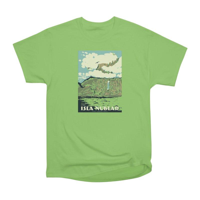 Visit Isla Nublar Women's Heavyweight Unisex T-Shirt by mathiole