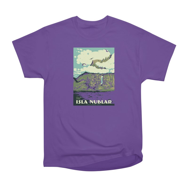 Visit Isla Nublar Men's Heavyweight T-Shirt by mathiole
