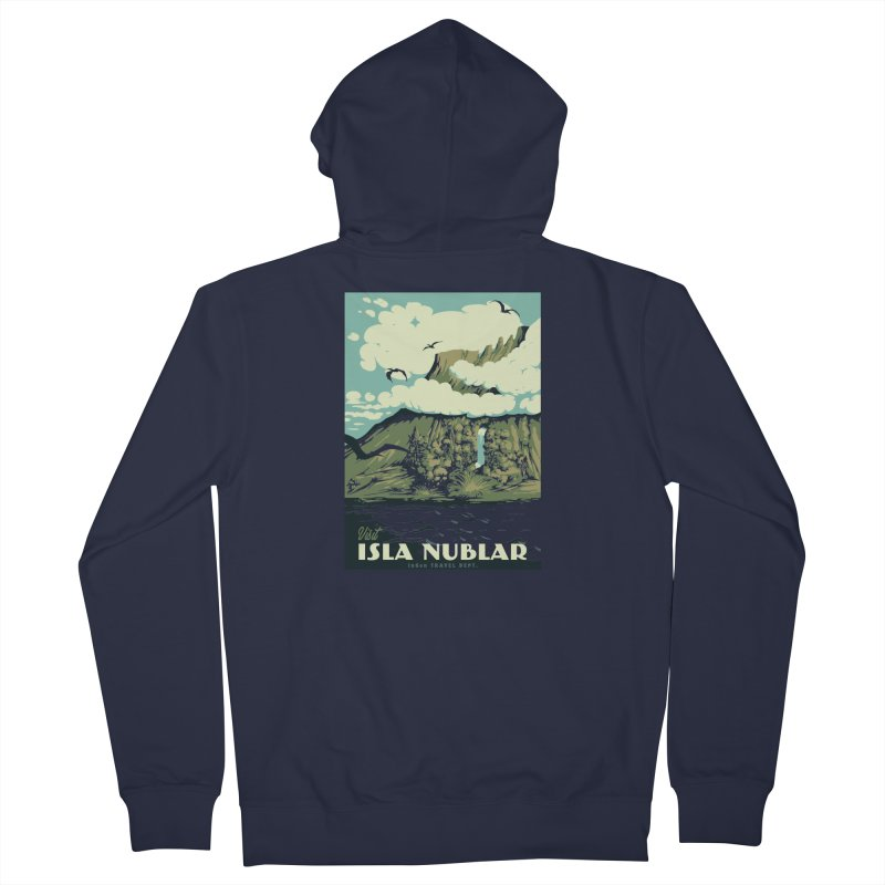 Visit Isla Nublar Women's French Terry Zip-Up Hoody by mathiole