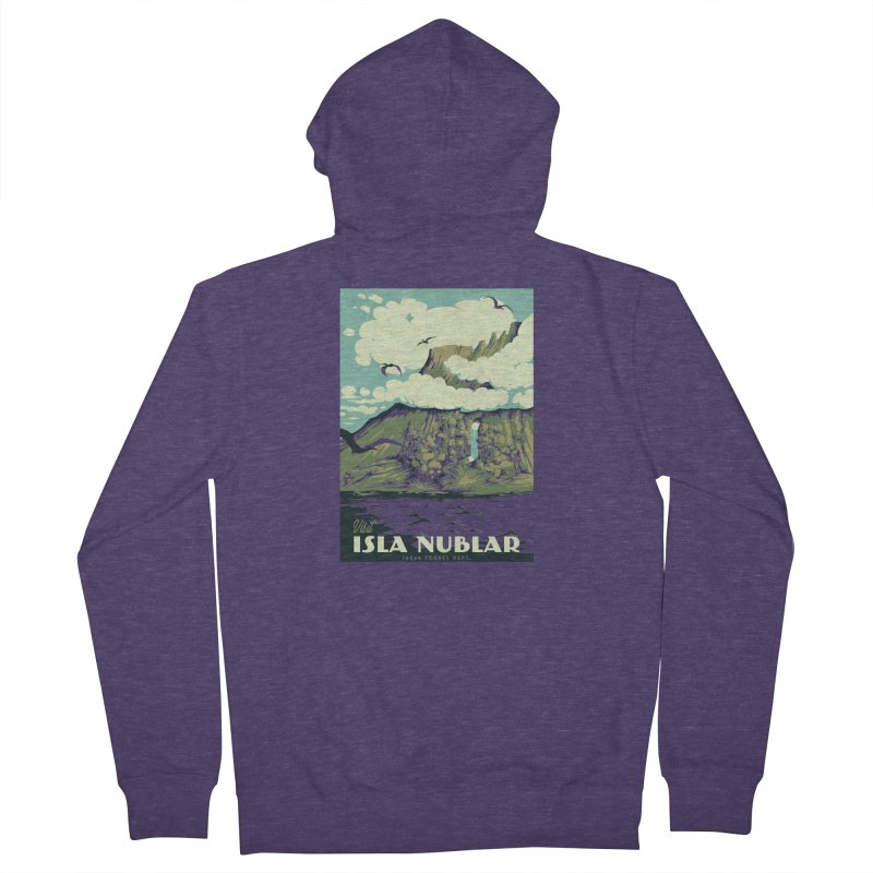 Visit Isla Nublar Men's French Terry Zip-Up Hoody by mathiole