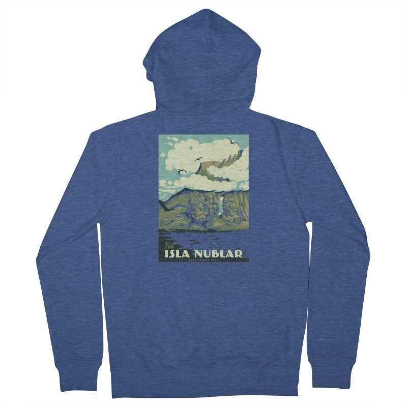 Visit Isla Nublar Men's Zip-Up Hoody by mathiole