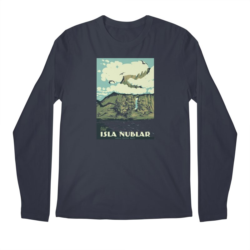 Visit Isla Nublar Men's Regular Longsleeve T-Shirt by mathiole