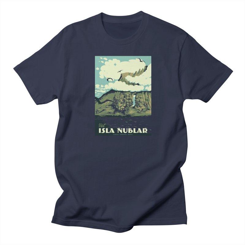 Visit Isla Nublar Men's Regular T-Shirt by mathiole
