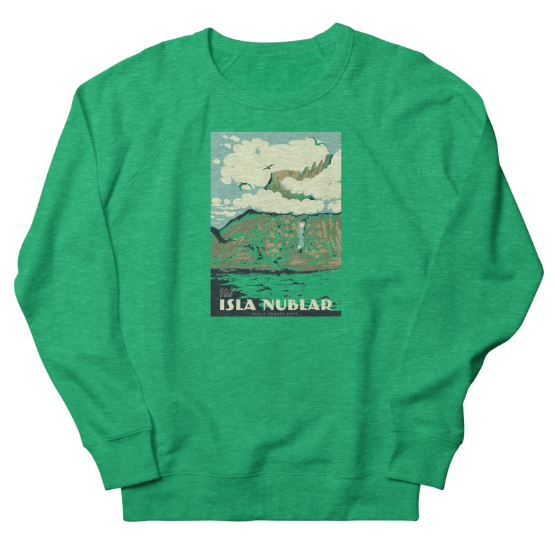 Visit Isla Nublar Men's French Terry Sweatshirt by mathiole