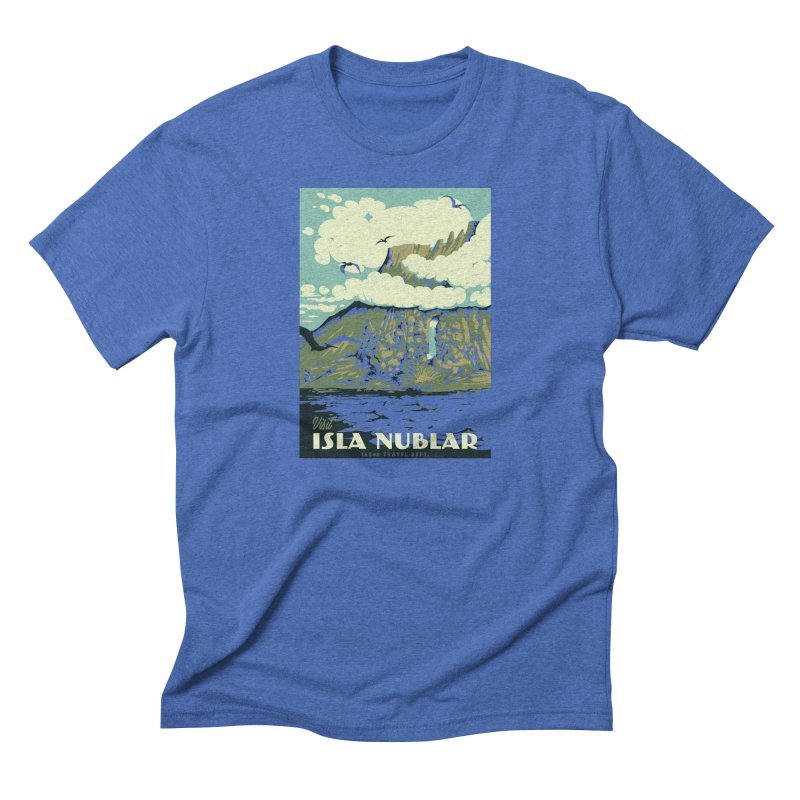 Visit Isla Nublar Men's Triblend T-Shirt by mathiole