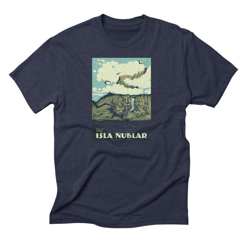 Visit Isla Nublar Men's Triblend T-Shirt by mathiole