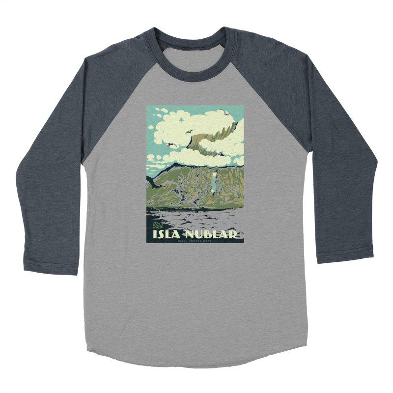 Visit Isla Nublar Women's Baseball Triblend Longsleeve T-Shirt by mathiole