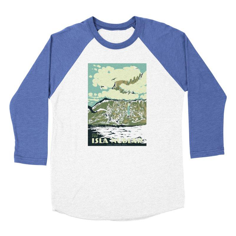 Visit Isla Nublar Men's Baseball Triblend Longsleeve T-Shirt by mathiole