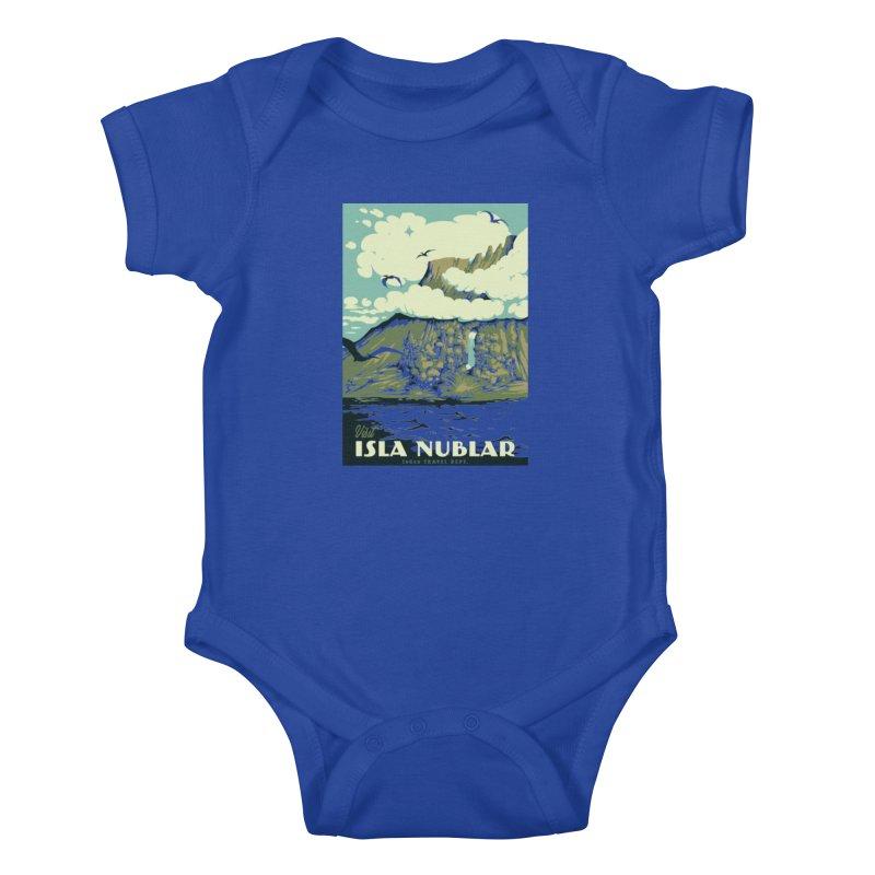 Visit Isla Nublar Kids Baby Bodysuit by mathiole