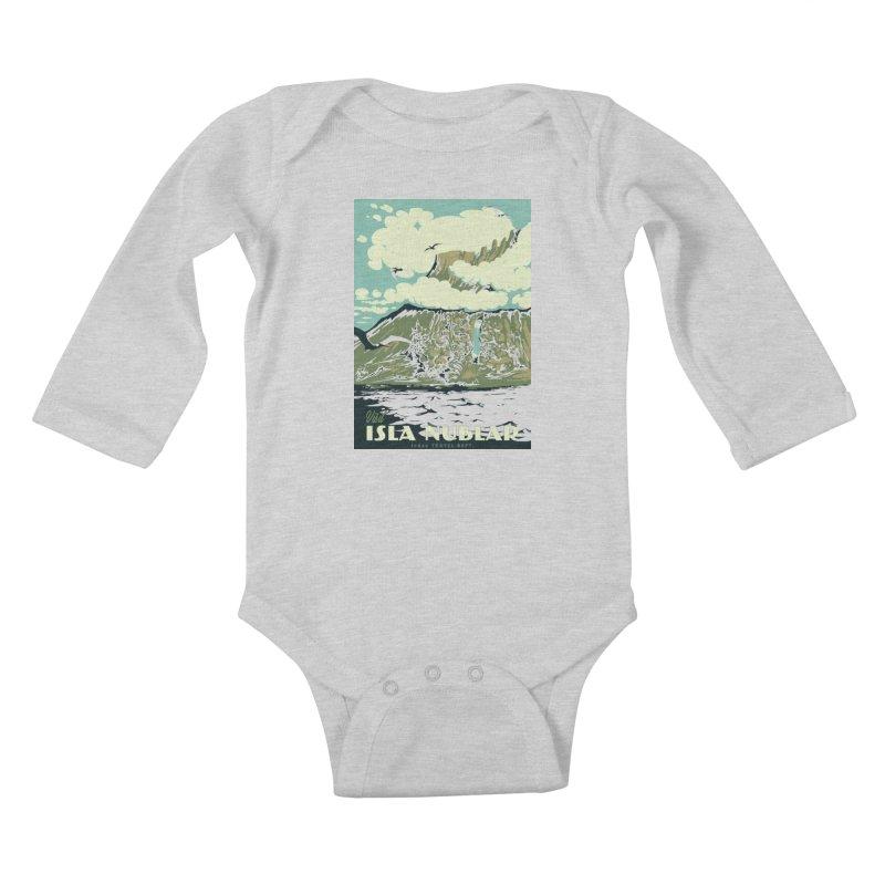 Visit Isla Nublar Kids Baby Longsleeve Bodysuit by mathiole