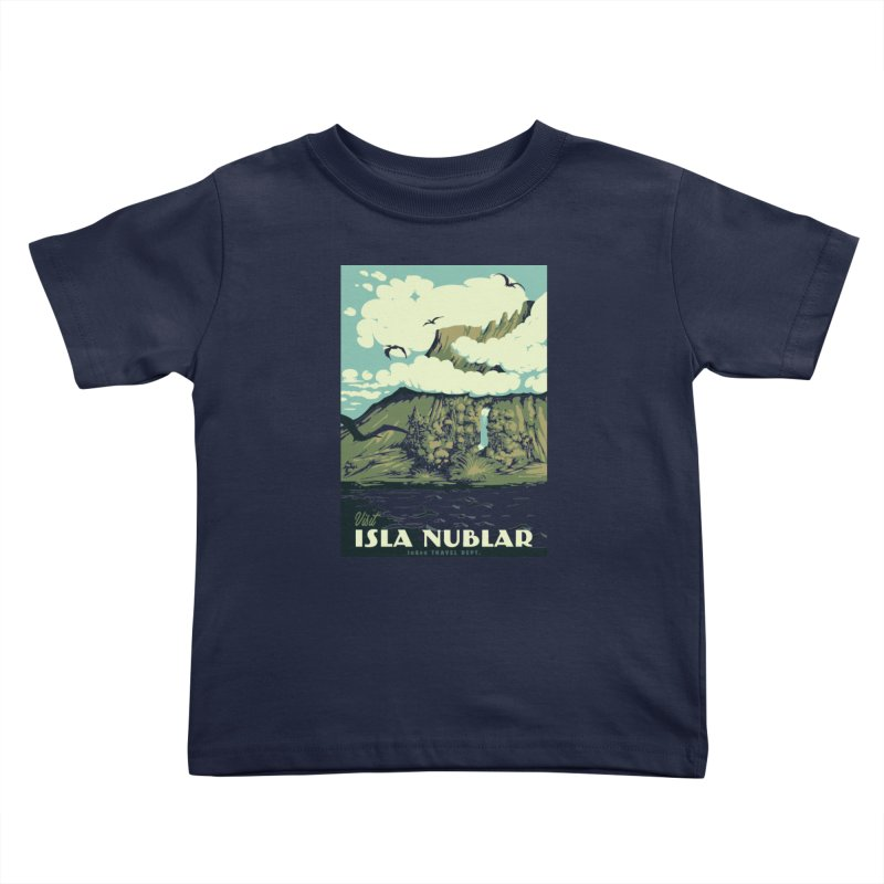 Visit Isla Nublar Kids Toddler T-Shirt by mathiole