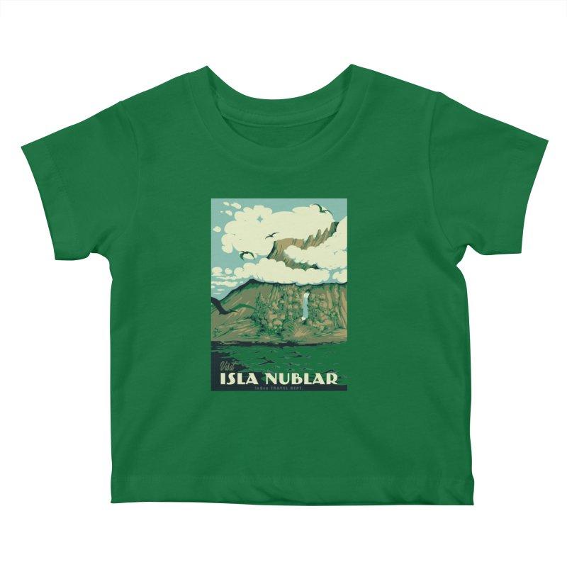 Visit Isla Nublar Kids Baby T-Shirt by mathiole