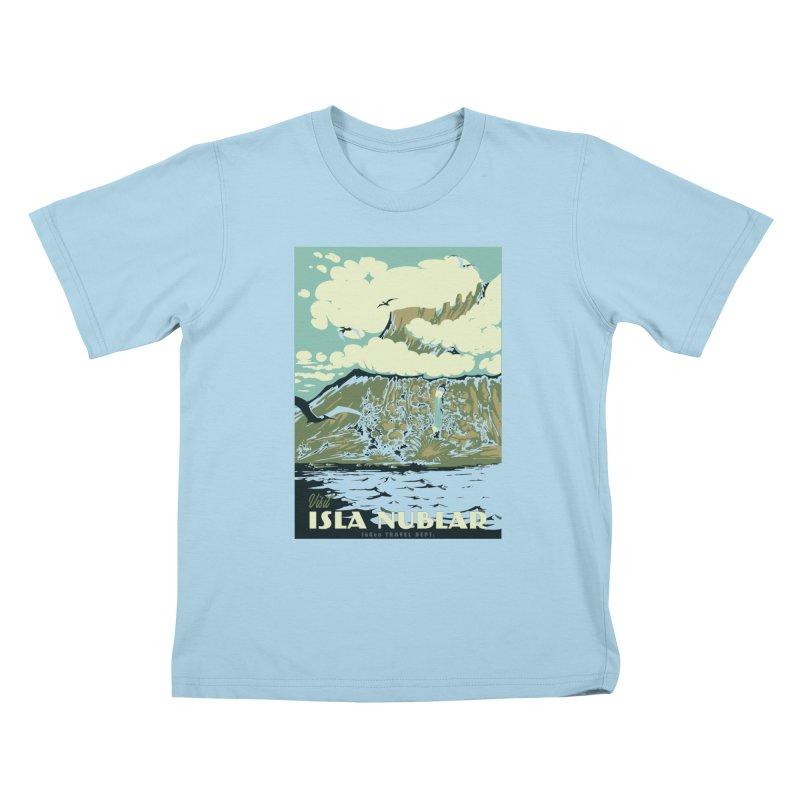 Visit Isla Nublar Kids T-Shirt by mathiole