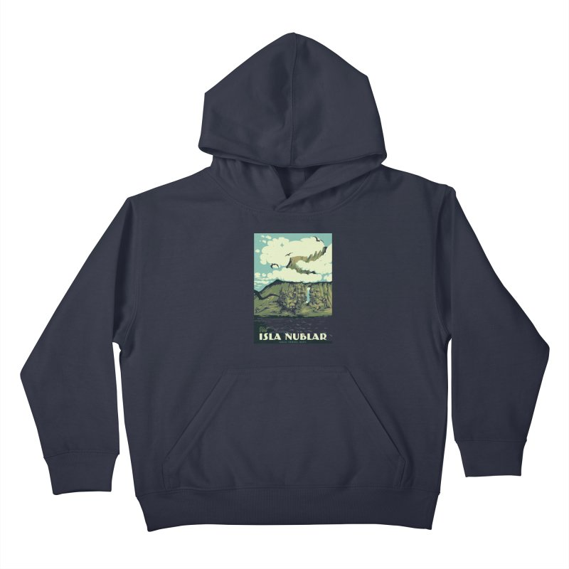 Visit Isla Nublar Kids Pullover Hoody by mathiole