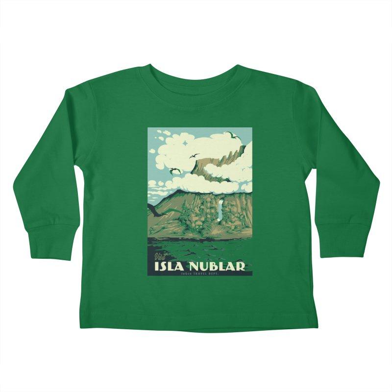 Visit Isla Nublar Kids Toddler Longsleeve T-Shirt by mathiole