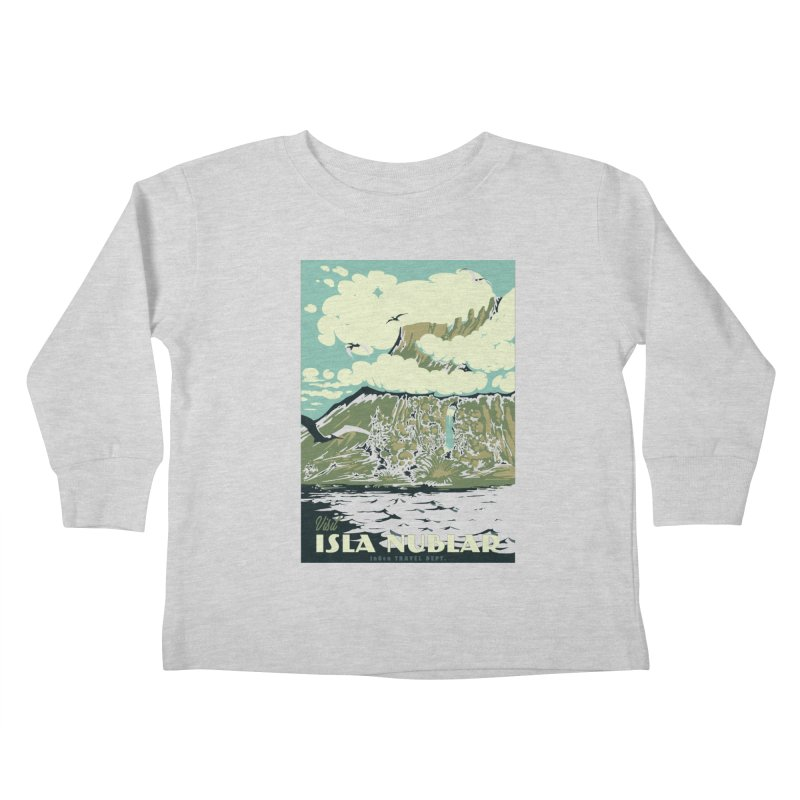 Visit Isla Nublar Kids Toddler Longsleeve T-Shirt by mathiole