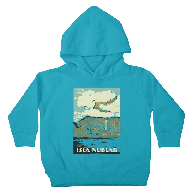 Visit Isla Nublar Kids Toddler Pullover Hoody by mathiole