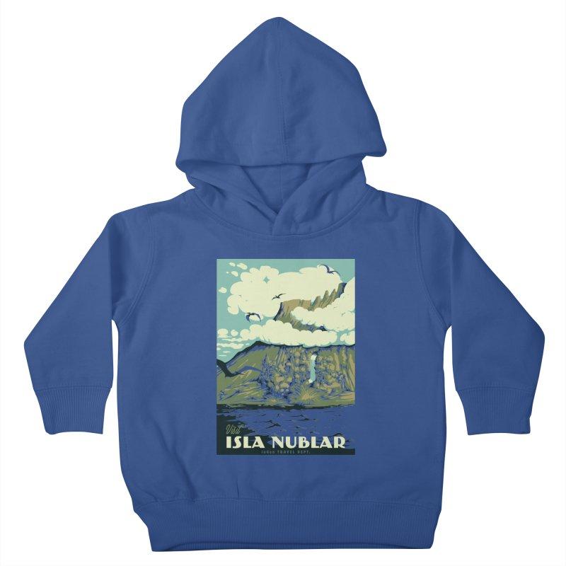 Visit Isla Nublar Kids Toddler Pullover Hoody by mathiole