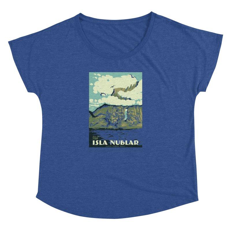 Visit Isla Nublar Women's Dolman Scoop Neck by mathiole
