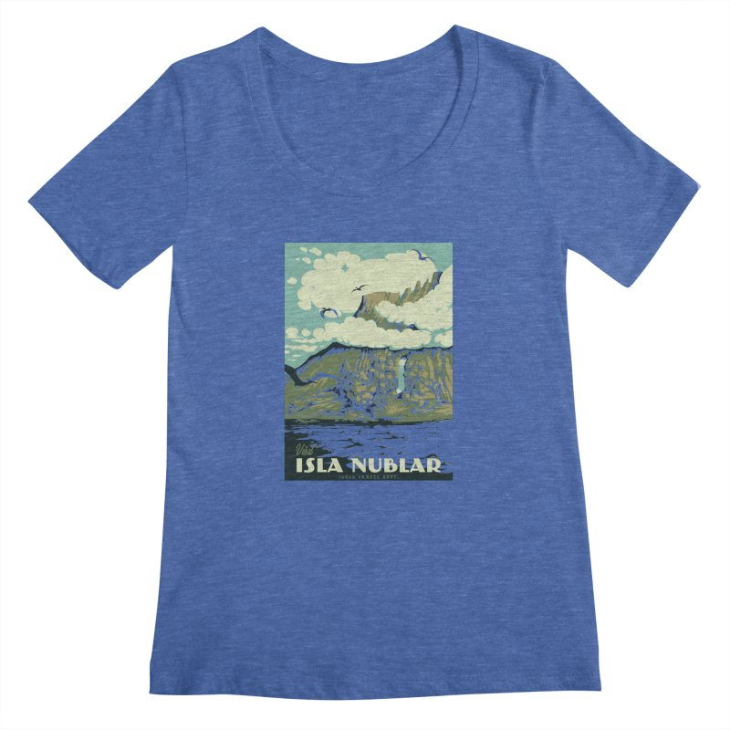 Visit Isla Nublar Women's Regular Scoop Neck by mathiole