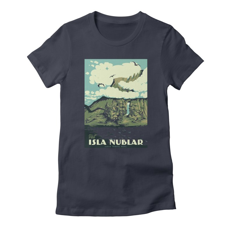 Visit Isla Nublar Women's Fitted T-Shirt by mathiole