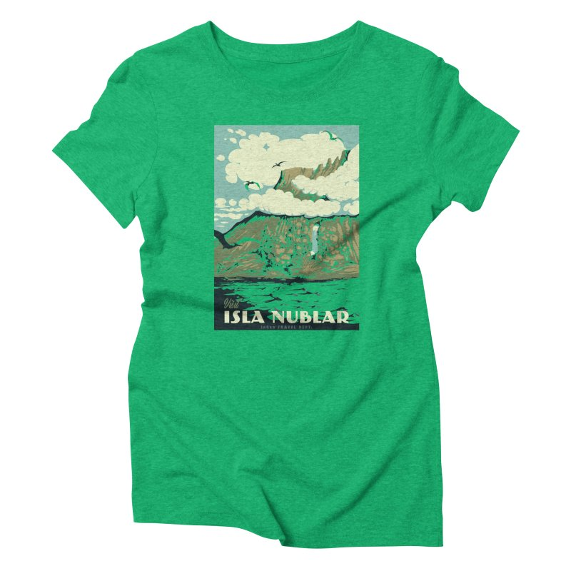 Visit Isla Nublar Women's Triblend T-Shirt by mathiole