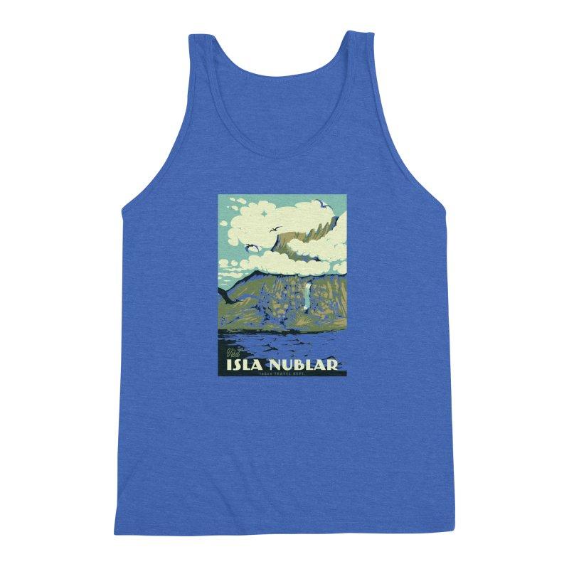 Visit Isla Nublar Men's Triblend Tank by mathiole
