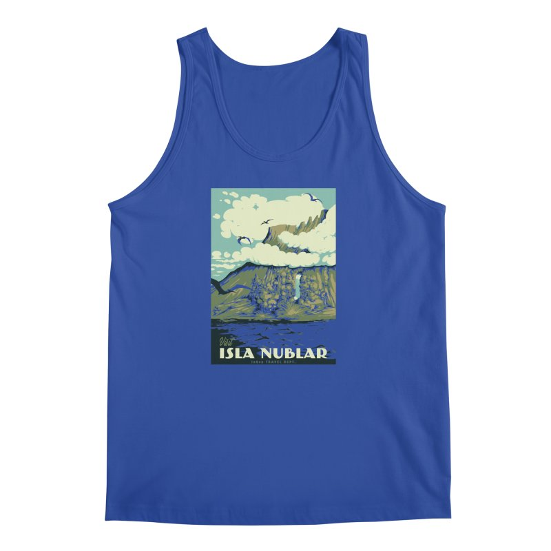 Visit Isla Nublar Men's Regular Tank by mathiole