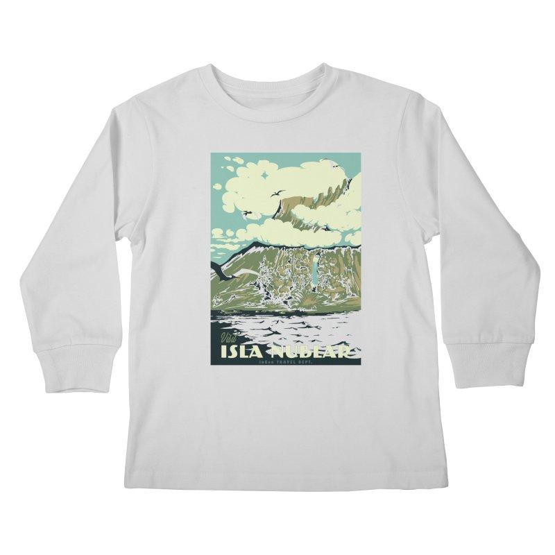 Visit Isla Nublar Kids Longsleeve T-Shirt by mathiole