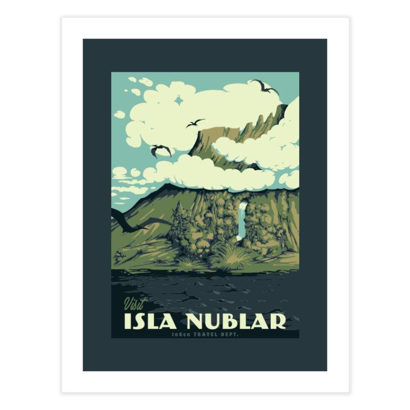 Visit Isla Nublar Home Fine Art Print by mathiole