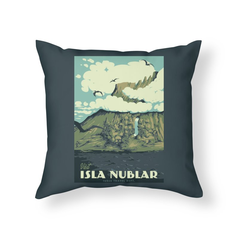 Visit Isla Nublar Home Throw Pillow by mathiole