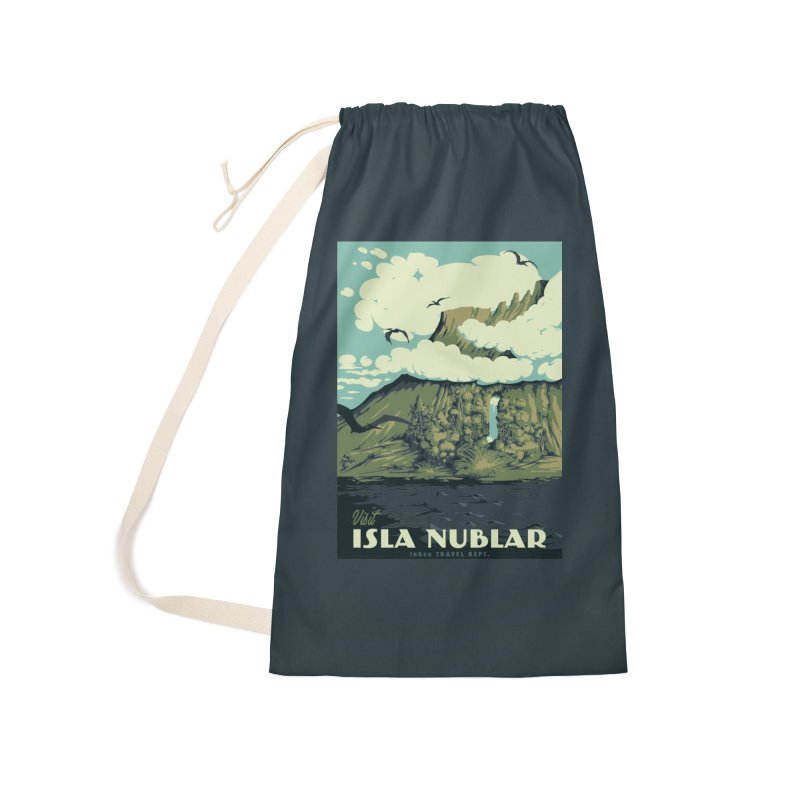 Visit Isla Nublar Accessories Laundry Bag Bag by mathiole