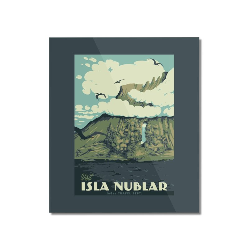 Visit Isla Nublar Home Mounted Acrylic Print by mathiole
