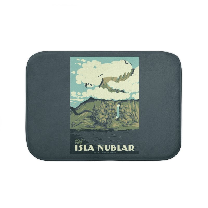 Visit Isla Nublar Home Bath Mat by mathiole