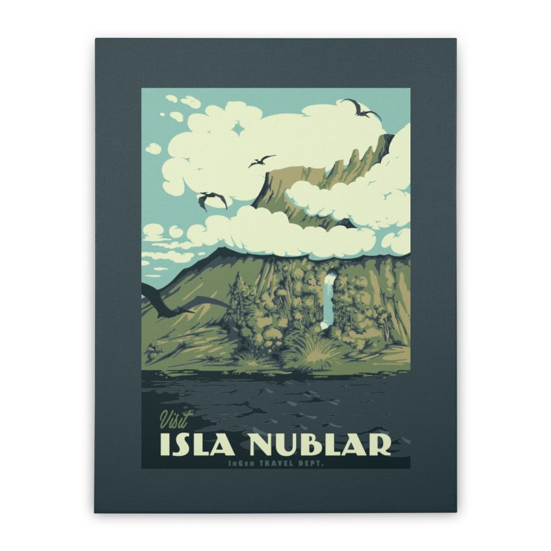 Visit Isla Nublar Home Stretched Canvas by mathiole