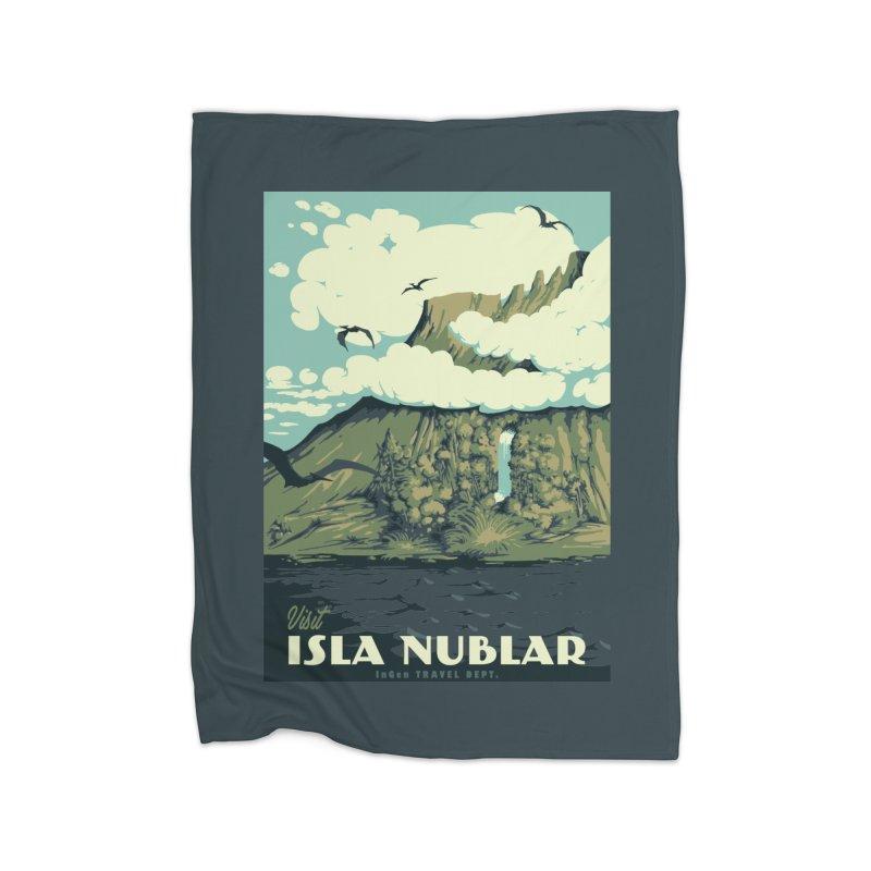 Visit Isla Nublar Home Blanket by mathiole