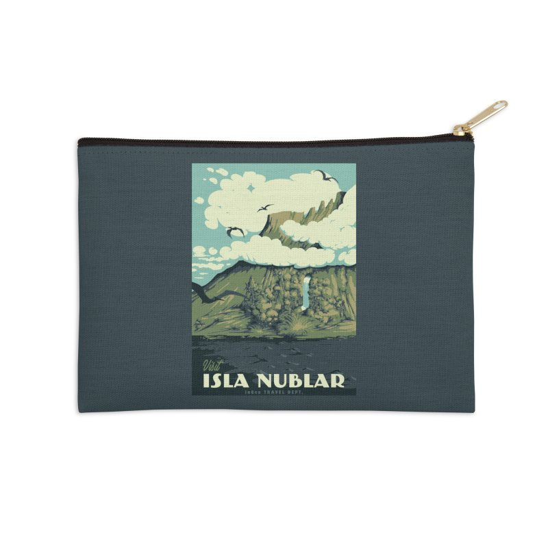 Visit Isla Nublar Accessories Zip Pouch by mathiole