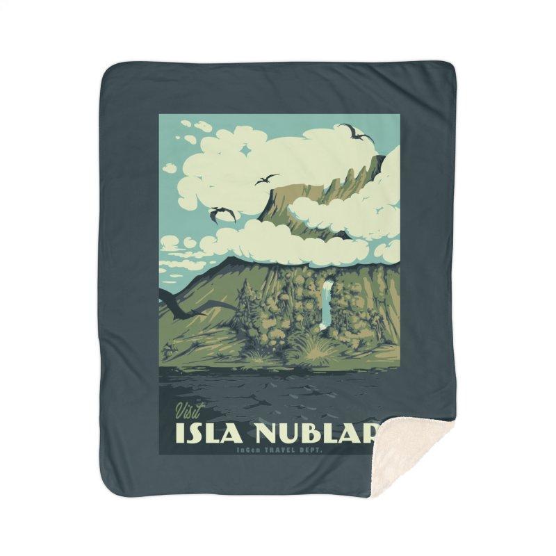 Visit Isla Nublar Home Sherpa Blanket Blanket by mathiole