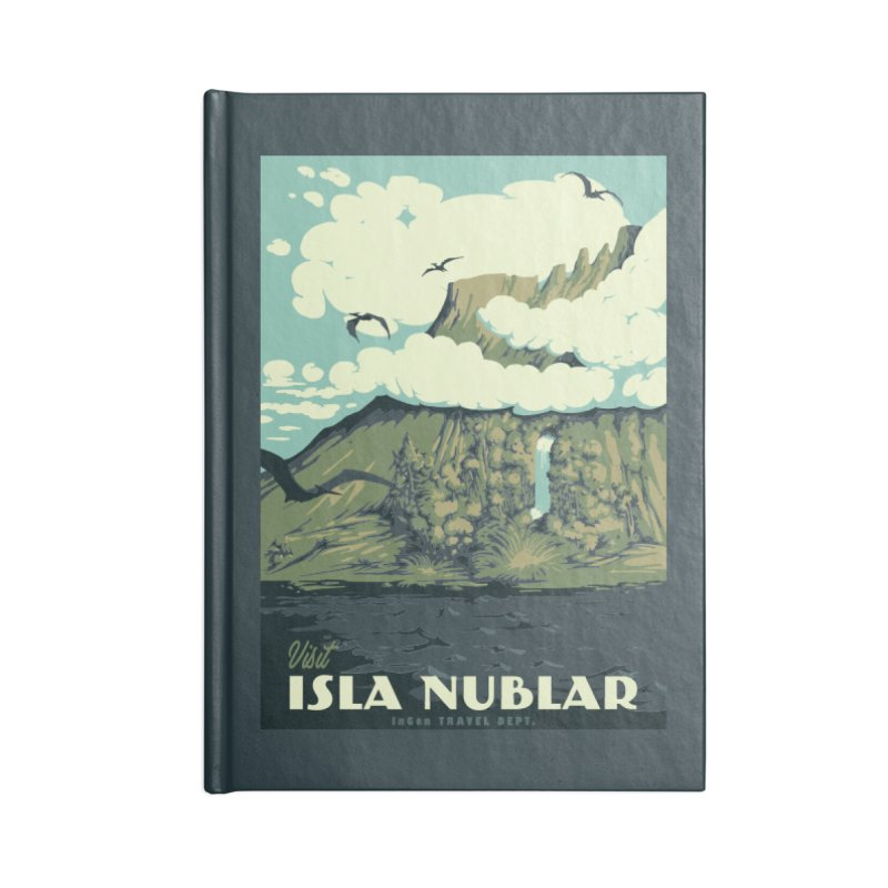 Visit Isla Nublar Accessories Lined Journal Notebook by mathiole