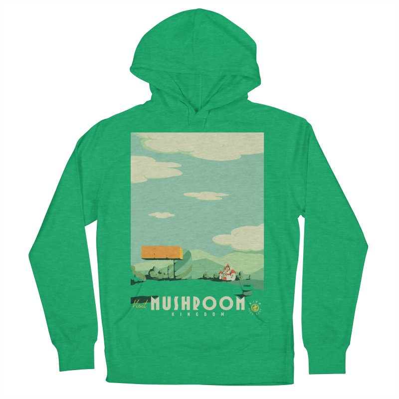 Visit Mushroom Kingdom Men's French Terry Pullover Hoody by mathiole